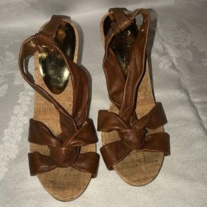 Michael Michael Kors heels sandals brown Sz 91/2